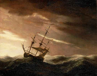 Ship in the midst of a storm