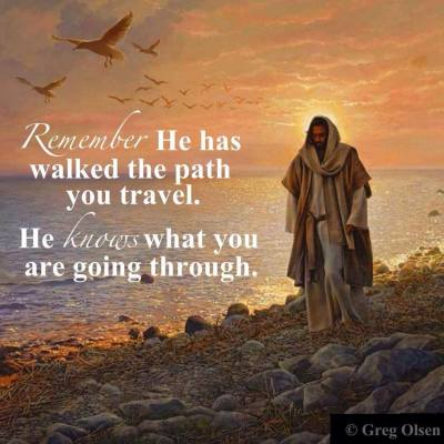 He has walked the path you travel