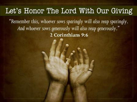Honor the Lord by Giving