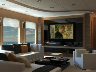 Living Room and HD TV