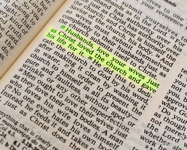 Love your wife according to the scriptures