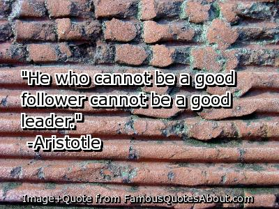Aristotle Leadership Quote