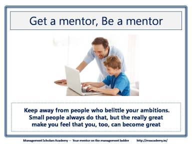 Be a Good Mentor