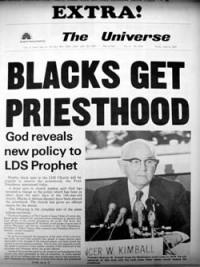 Blacks Receive the Priesthood