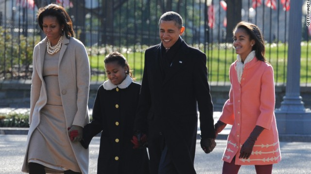 First Family Attends Easter Church Services