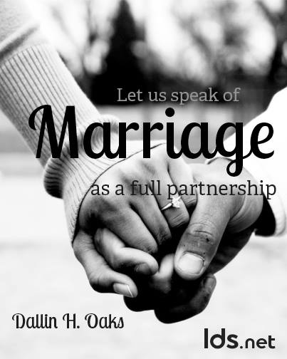 Marriage is a Full Partnership