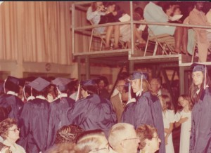 The Class of 1976 Graduation Procession