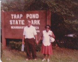 Dad and Mom at Trap Pond State Park