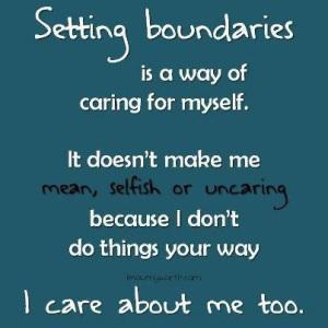 Setting Boundaries - Caring For Self