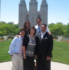 Ken Niumatalolo Family - Salt Lake Temple