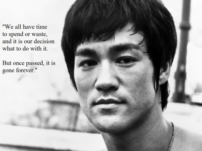 Bruce Lee Quote on Time