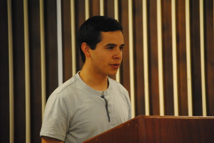 David Archuleta spaeks at youth fireside in Ethiopia