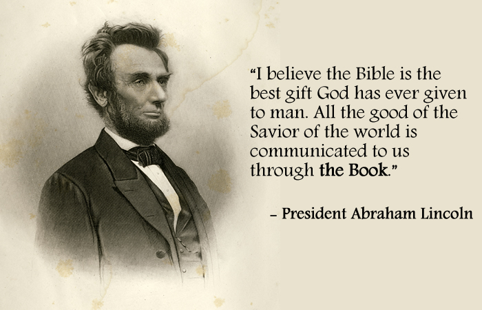 Abraham Lincoln Bible Quote