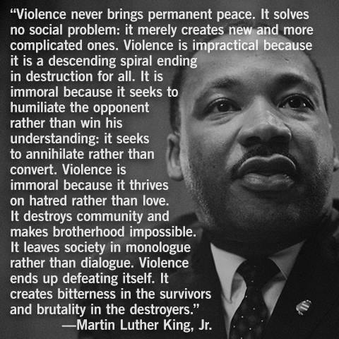 Martin Luther King Jr. on Violence
