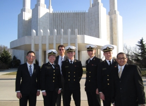 Mormon Midshipmen at Washington DC Temple
