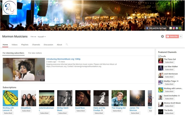 Mormon Musicians YouTube Channel